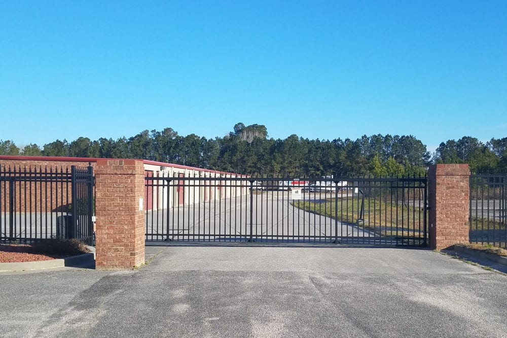 Access gate at Monster Self Storage in Savannah, Georgia