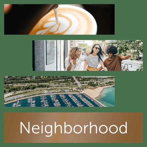 View the neighborhood near Prairie Shores in Chicago, Illinois