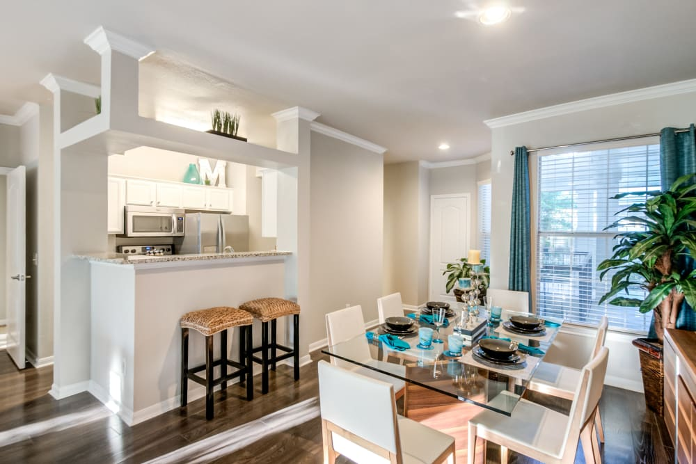 Kitchen & Dining Room at Meridian Apartments in San Antonio, Texas