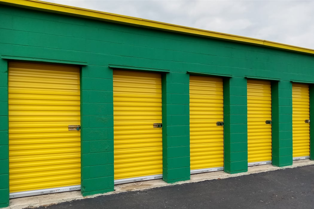 outdoor storage units at Lockaway Storage in San Antonio, Texas