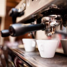 A delicious Coffee is served at 2111 Holly Hall in Houston, Texas