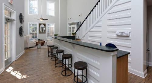 Clubhouse at Worthington Luxury Apartments in Charlotte, North Carolina