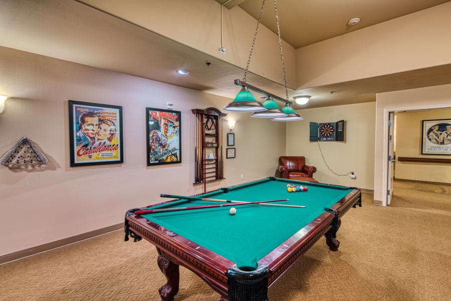 Billiards at a Careage community.