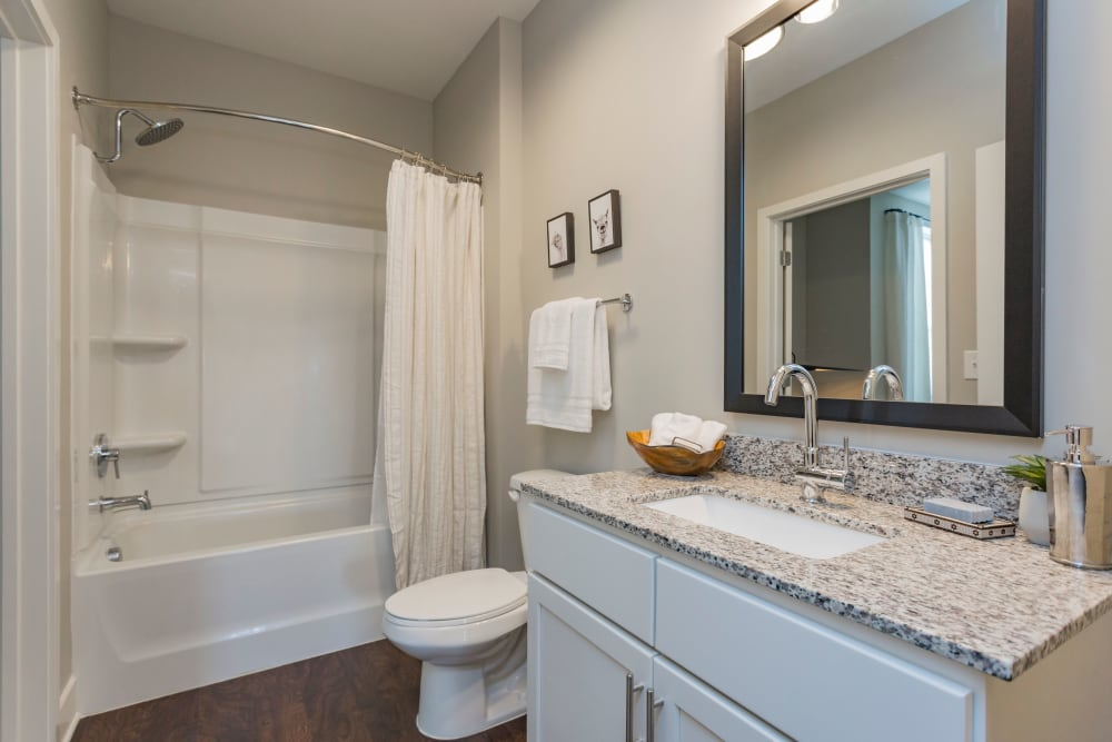 Bathroom at Rivertop Apartments in Nashville, Tennessee