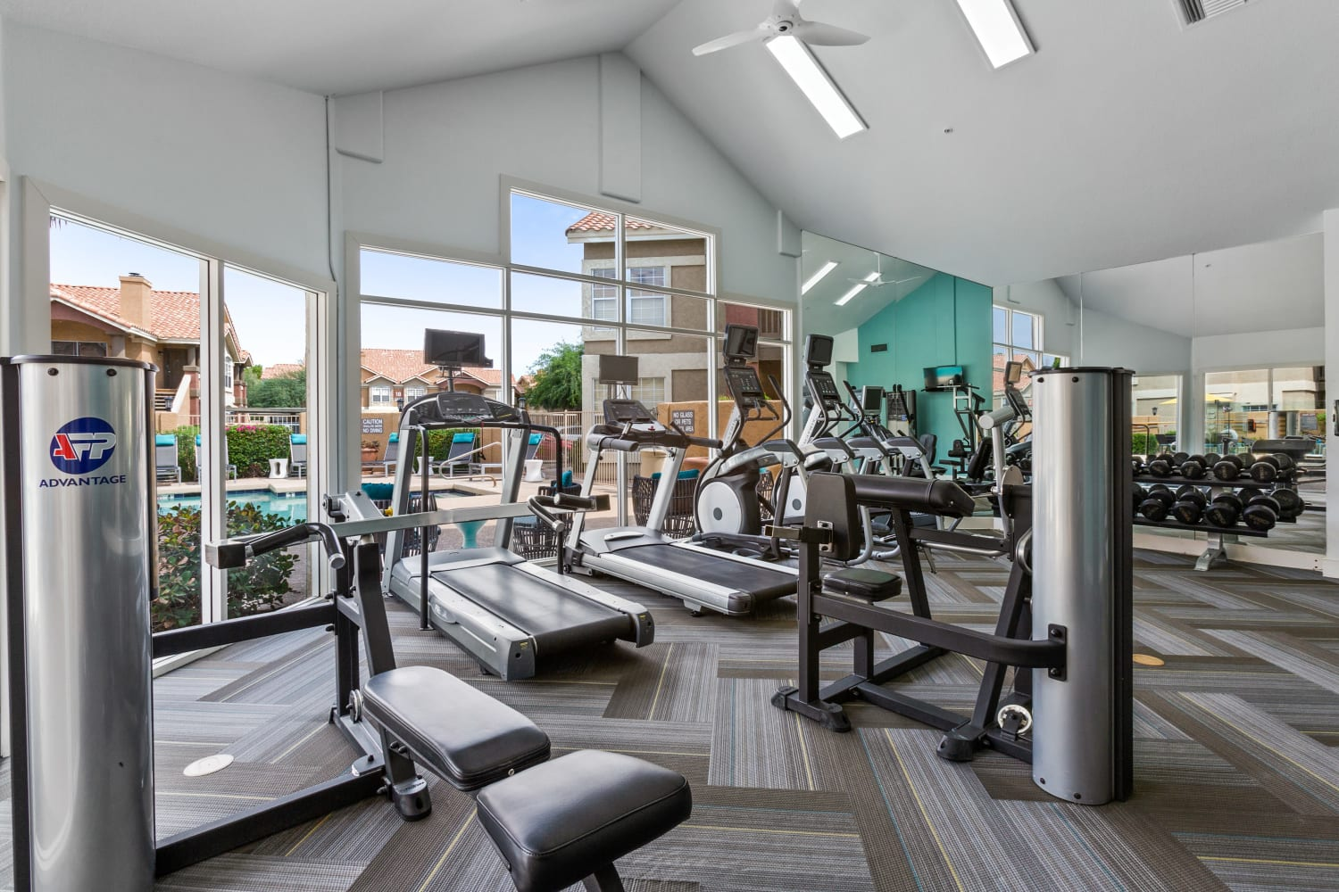 Fitness area at Sonoran Vista Apartments in Scottsdale, Arizona