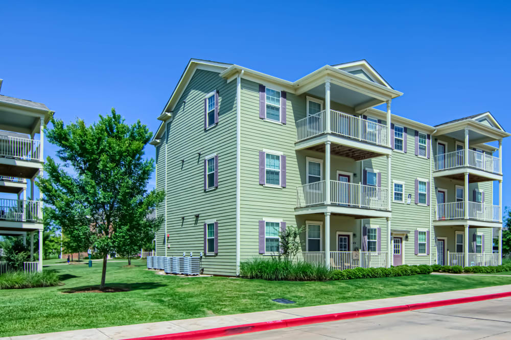Apartments with private patio or balcony at Traditions at Westmoore in Oklahoma City, Oklahoma.