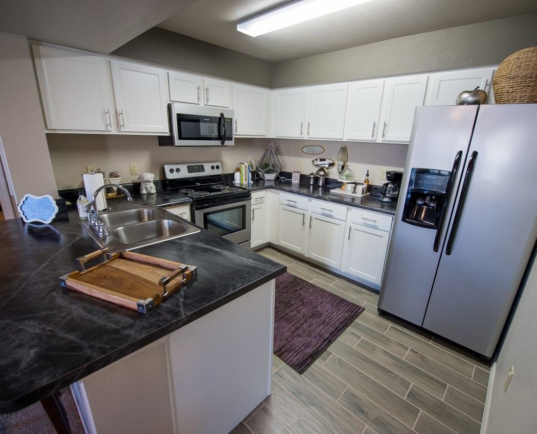 Modern kitchen at Cottages at Crestview in Wichita, Kansas