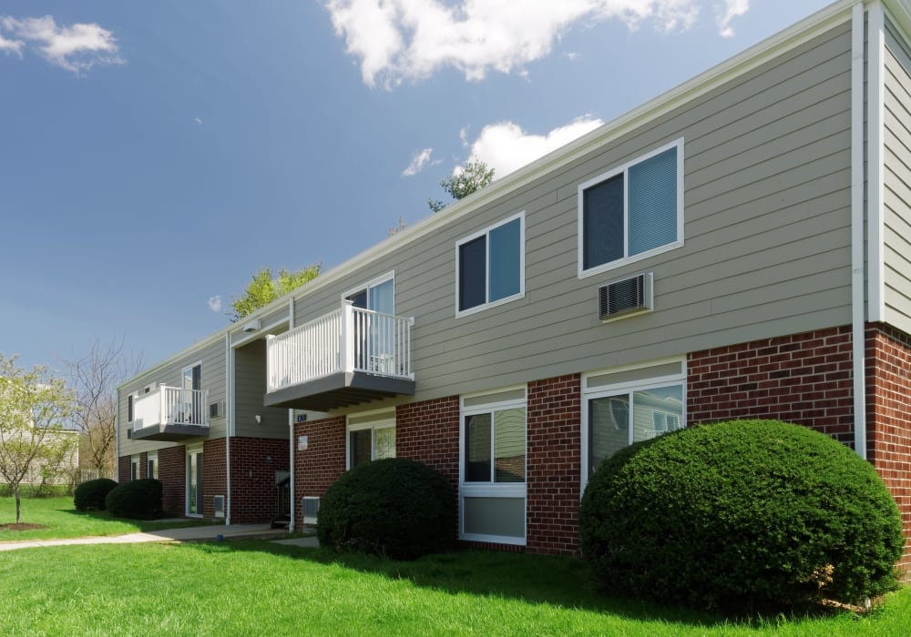 Front entrance to apartments at Concord Apartments in Perryville, Maryland