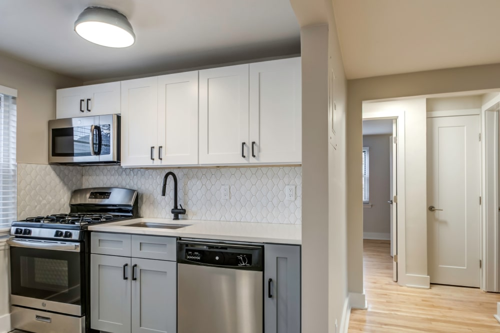 Spacious kitchen with plenty of cabinet space at Haven New Providence in New Providence, New Jersey