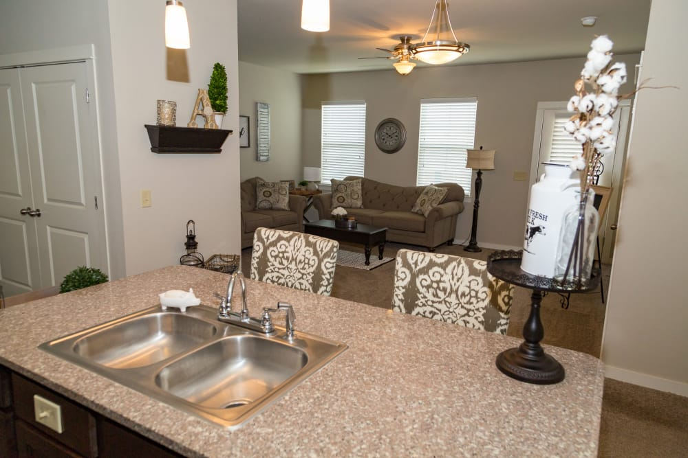 Living Room At Traditions At Mid Rivers