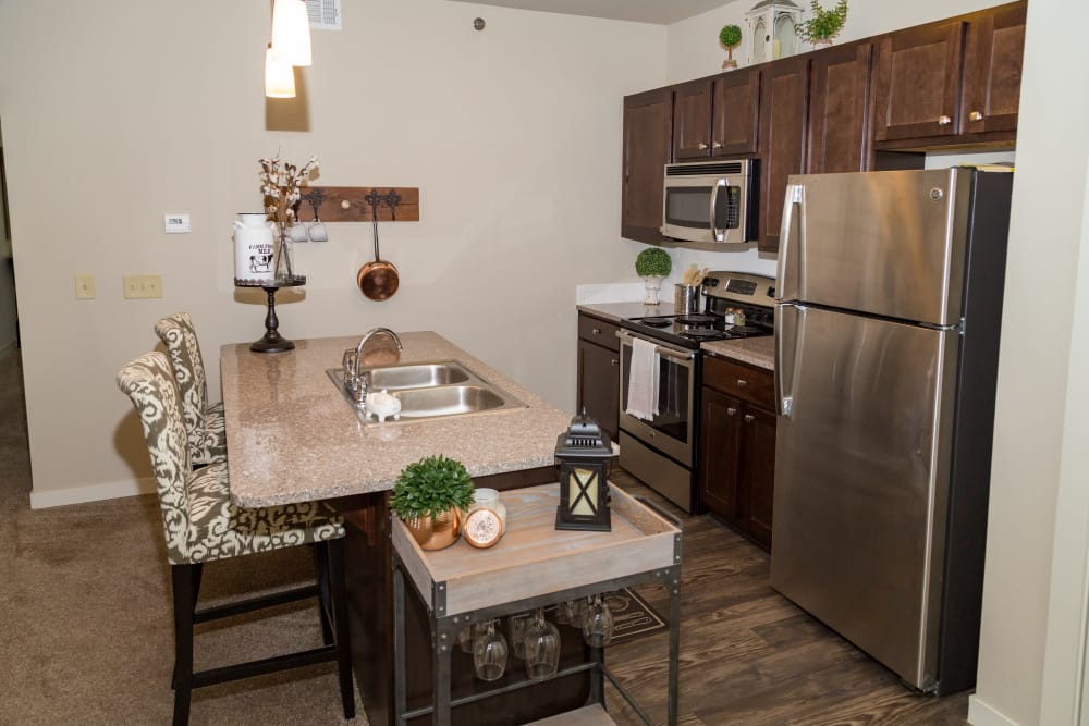 Model Kitchen At Traditions At Mid Rivers