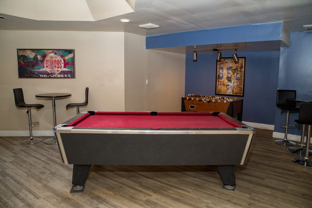 Billiards at apartments in Saint Charles, MO
