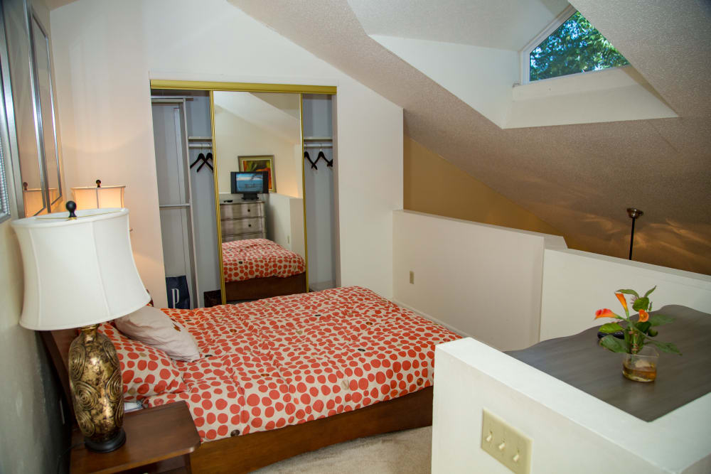 Guest bedroom at apartments in Saint Charles, MO