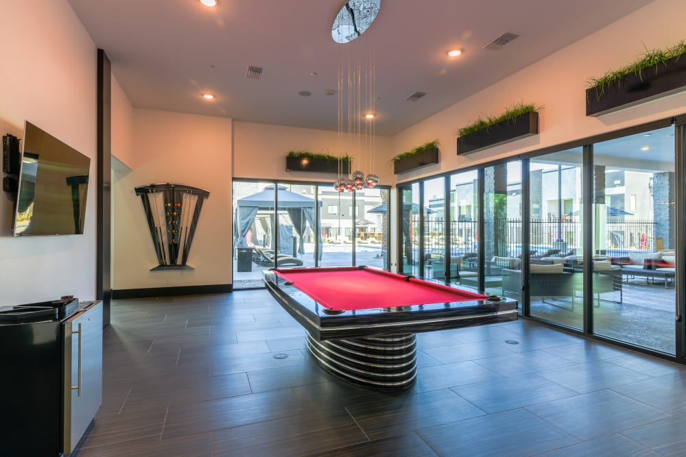 Clubhouse Game Room at EVO Apartments in Las Vegas, Nevada