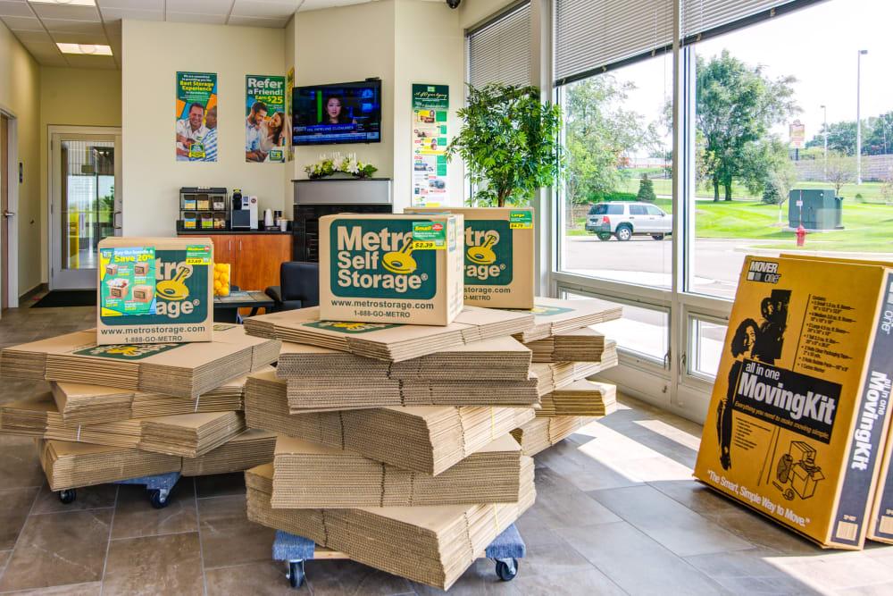 Packaging supplies at Metro Self Storage in Coon Rapids, Minnesota