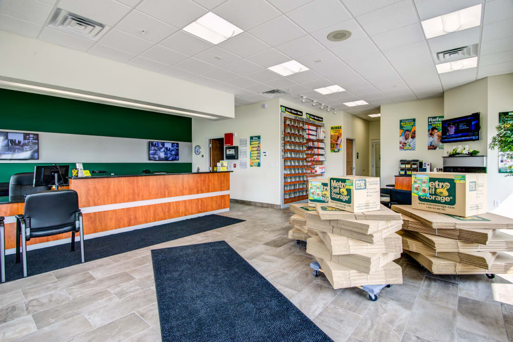 Office reception at Metro Self Storage in Coon Rapids, Minnesota