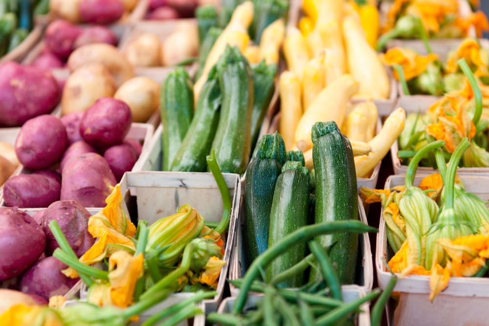 Fresh vegetables at the market near 770 C Street Apartments in Washington, District of Columbia