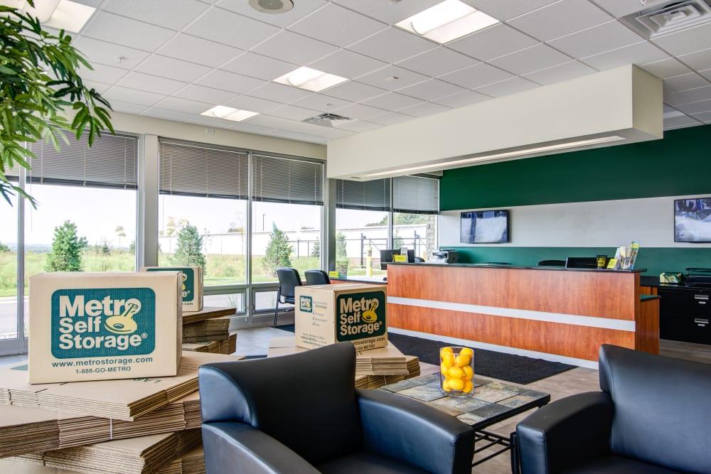Office interior at Metro Self Storage in Coon Rapids, Minnesota