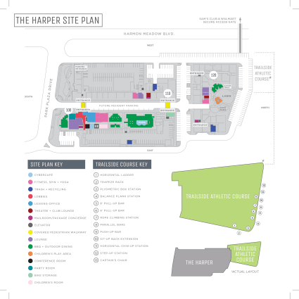 The Harper at Harmon Meadow site map