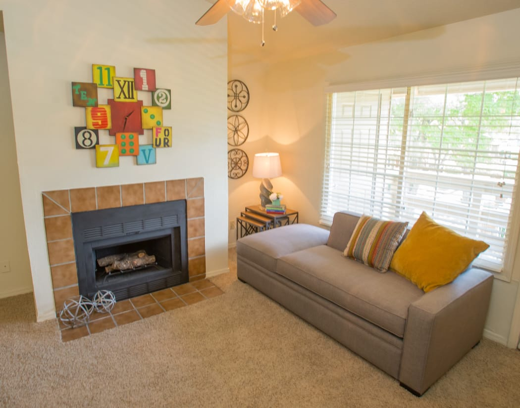 Bright, Spacious Living Room at Chardonnay in Tulsa, Oklahoma