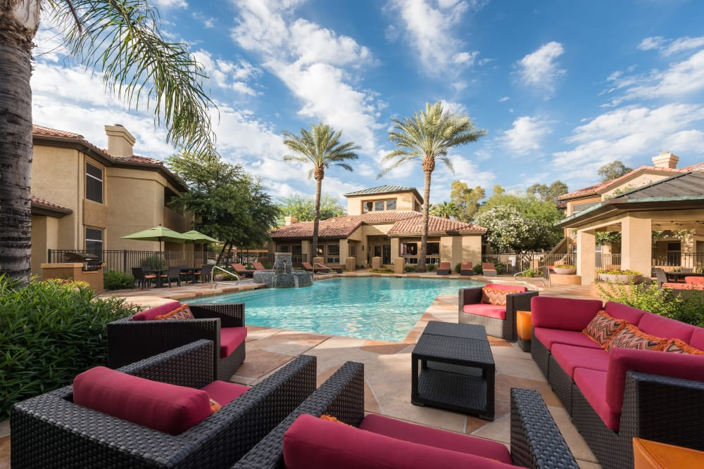 Beautiful swimming pool at Bellagio in Scottsdale, Arizona