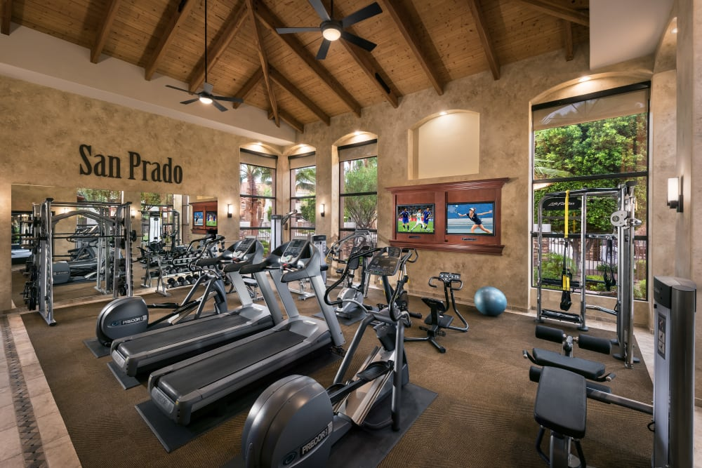 Modern fitness center at San Prado in Glendale, Arizona