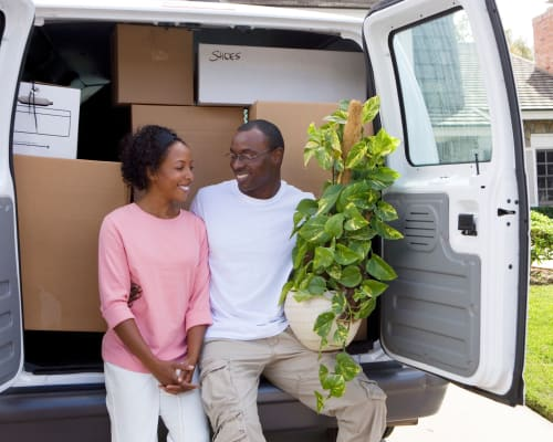 View the moving trucks available for rent at A Storage Solution of Destin in Destin, Florida