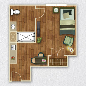 View senior living floor plan options at Wyndham Court of Plano in Plano, Texas