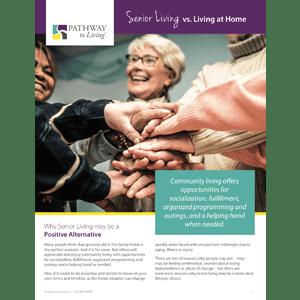 Read the senior living vs. living at home white paper at Aspired Living of La Grange in La Grange, Illinois.