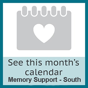 View this month's memory support south calendar at The Wentworth of Las Vegas in Las Vegas, Nevada.
