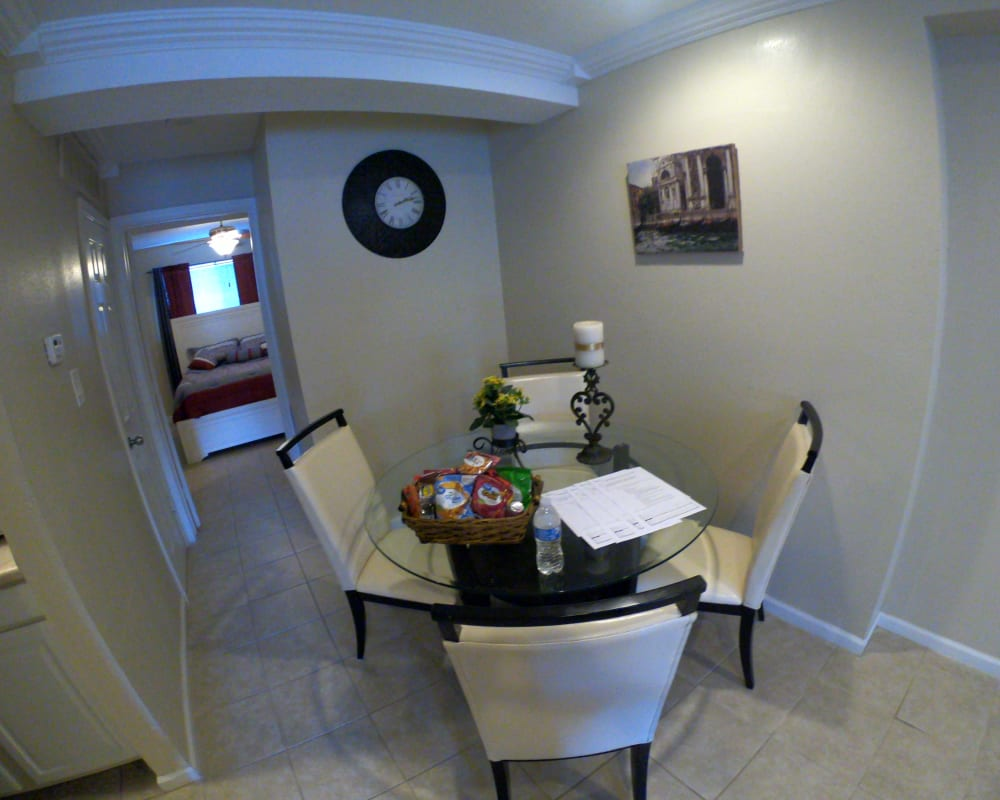 Living room table at 2929 Dunvale in Houston, Texas