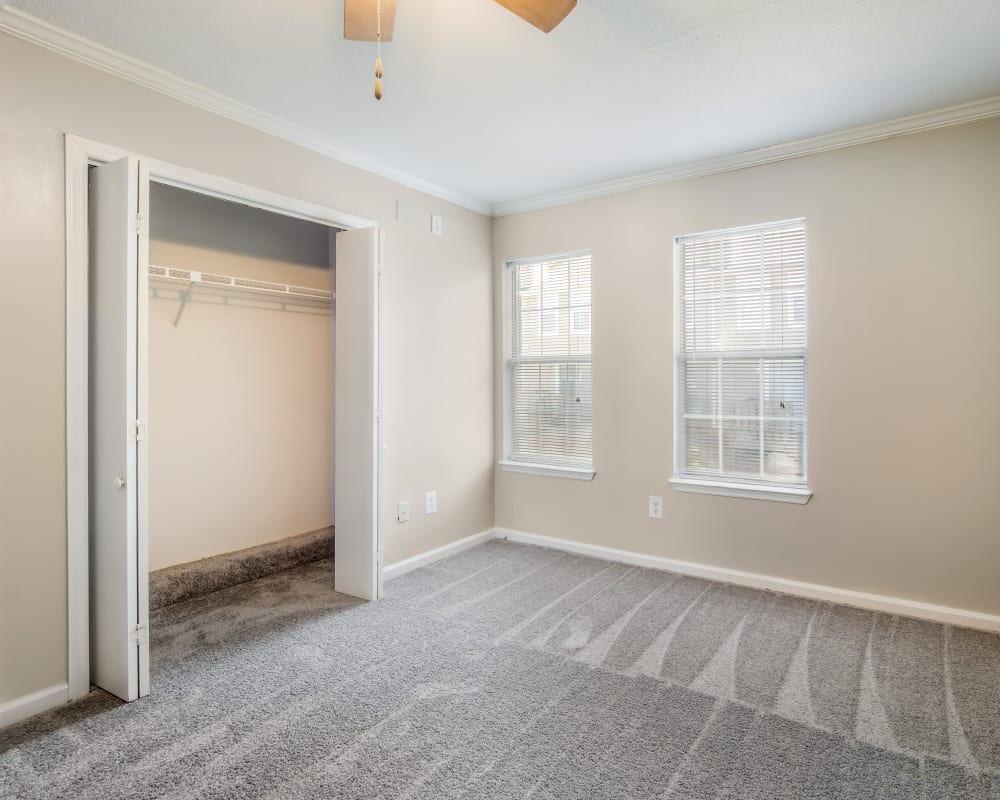 Spacious  bedroom with a closet at 220 West Townhomes in Augusta, Georgia