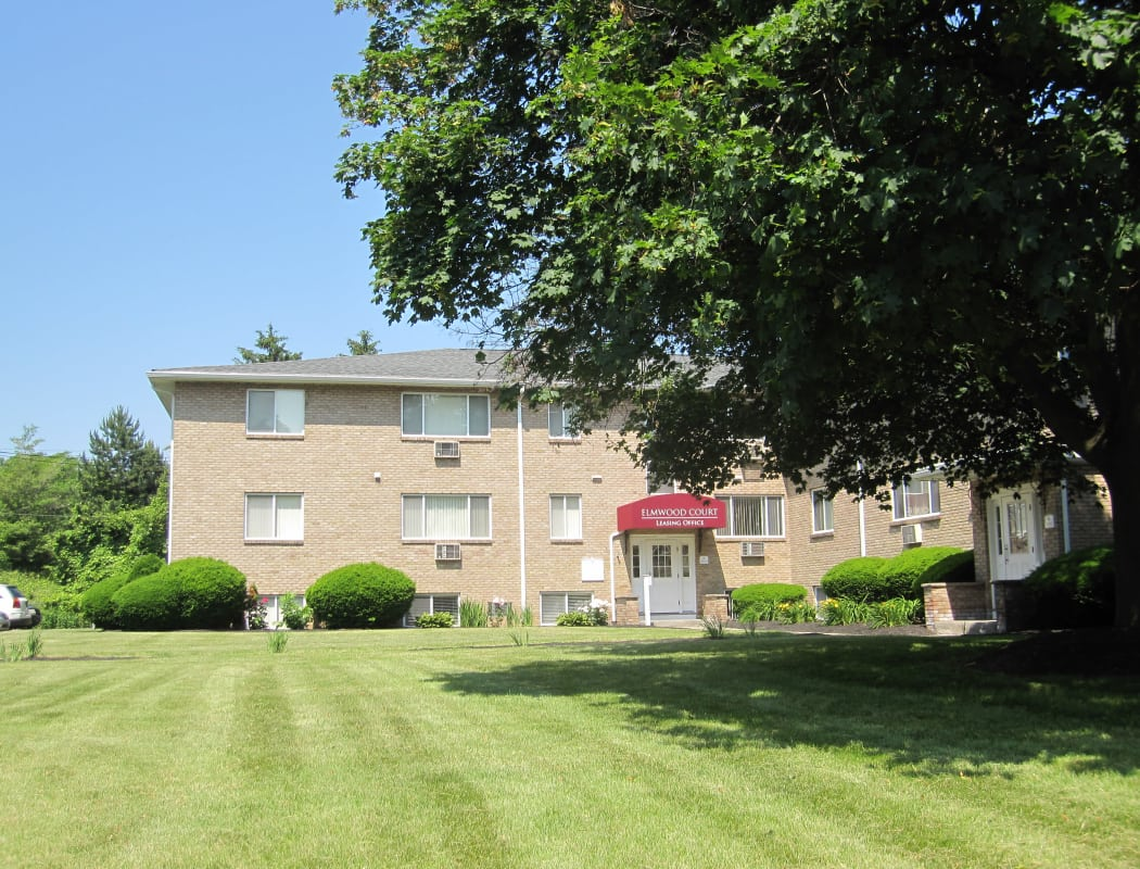 Exterior view of Elmwood Court Apartments in Rochester, NY