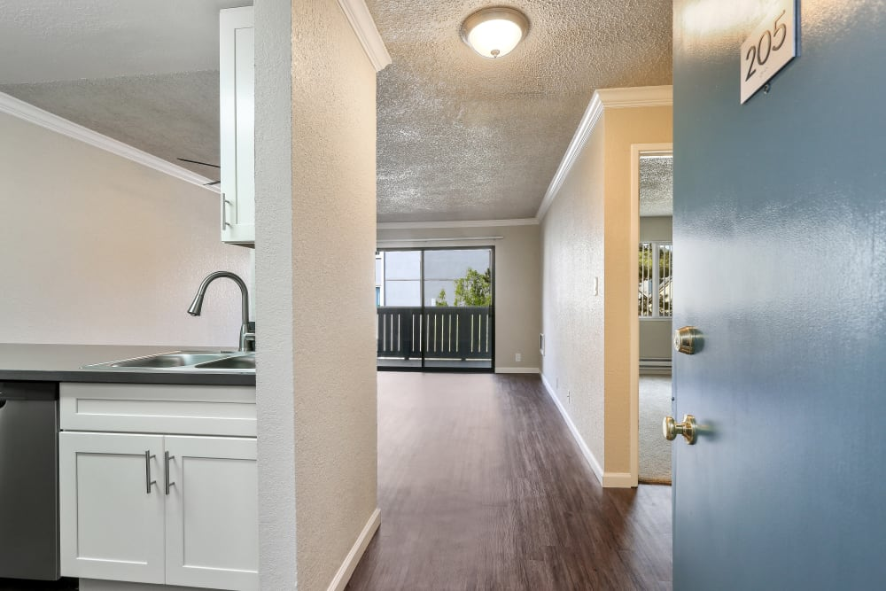 Fitness center at Ballena Village Apartment Homes in Alameda, California