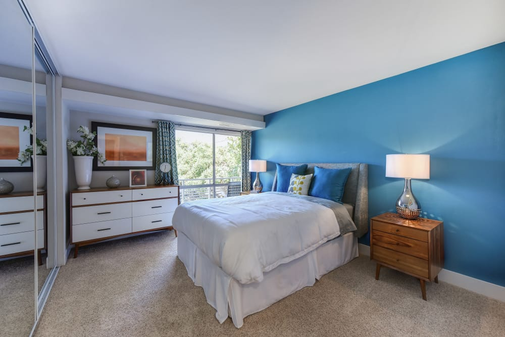 Beautiful bedroom at Citra in Sunnyvale, California