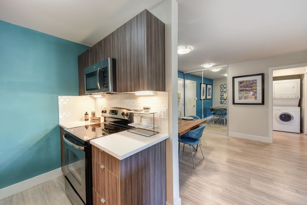 Beautiful kitchen at apartments in Sunnyvale, California