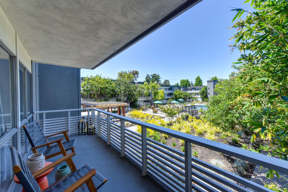 Spacious private patio at Citra in Sunnyvale, California