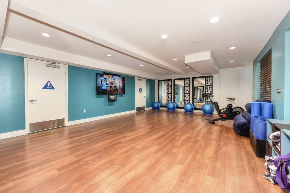 Modern fitness center at Citra in Sunnyvale, California