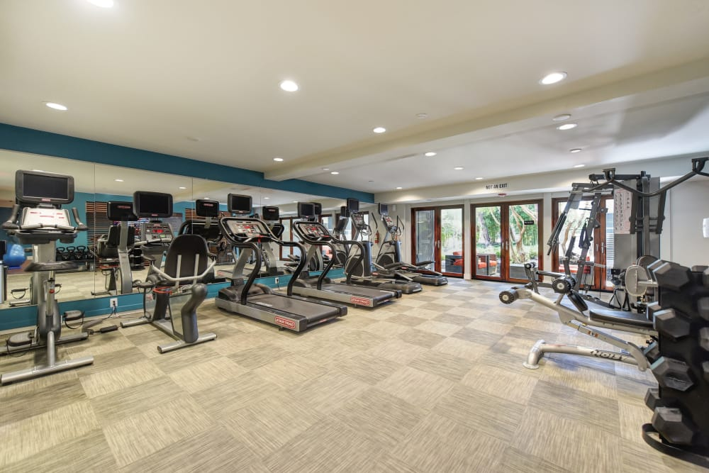 State-of-the-art fitness center at Citra in Sunnyvale, California