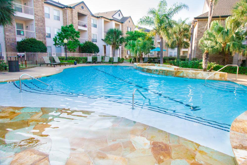 luxury pool and sunning area at Veranda in Texas City, Texas
