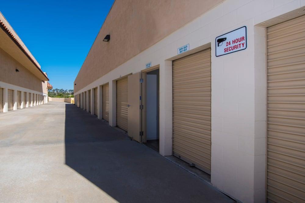 Exterior units at North County Self Storage