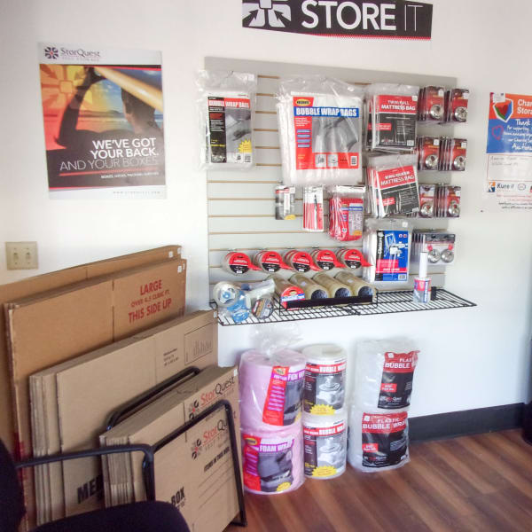 Packing supplies sold at StorQuest Express Self Service Storage in South Lake Tahoe, California