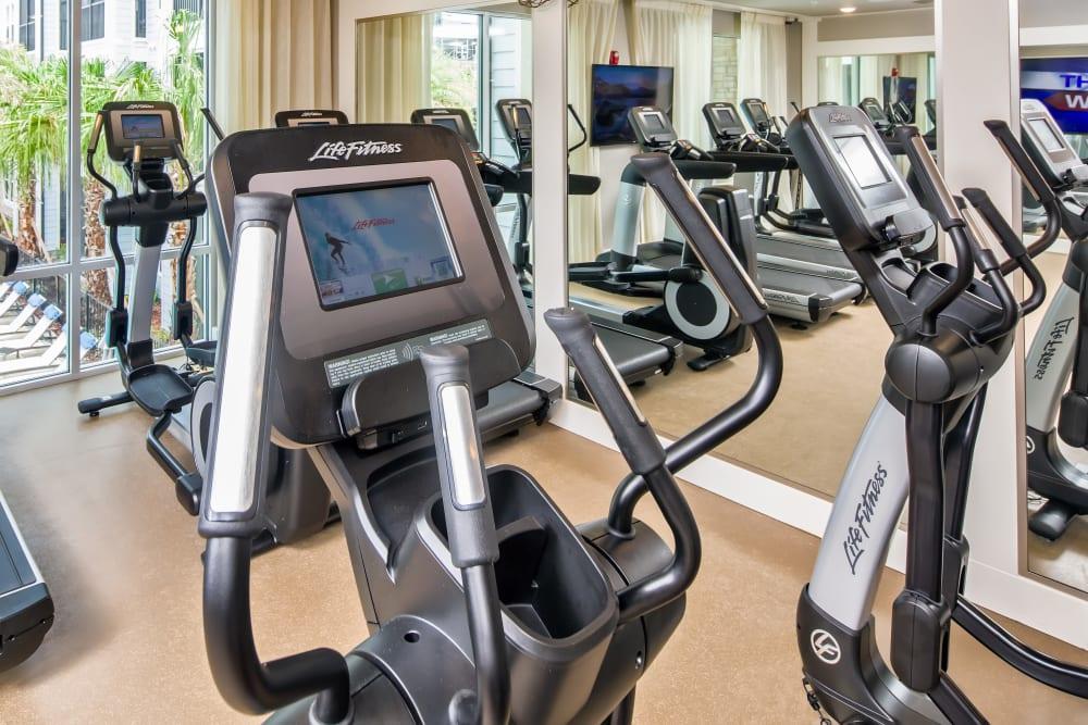 Fitness center at Linden Audubon Park in Orlando, Florida