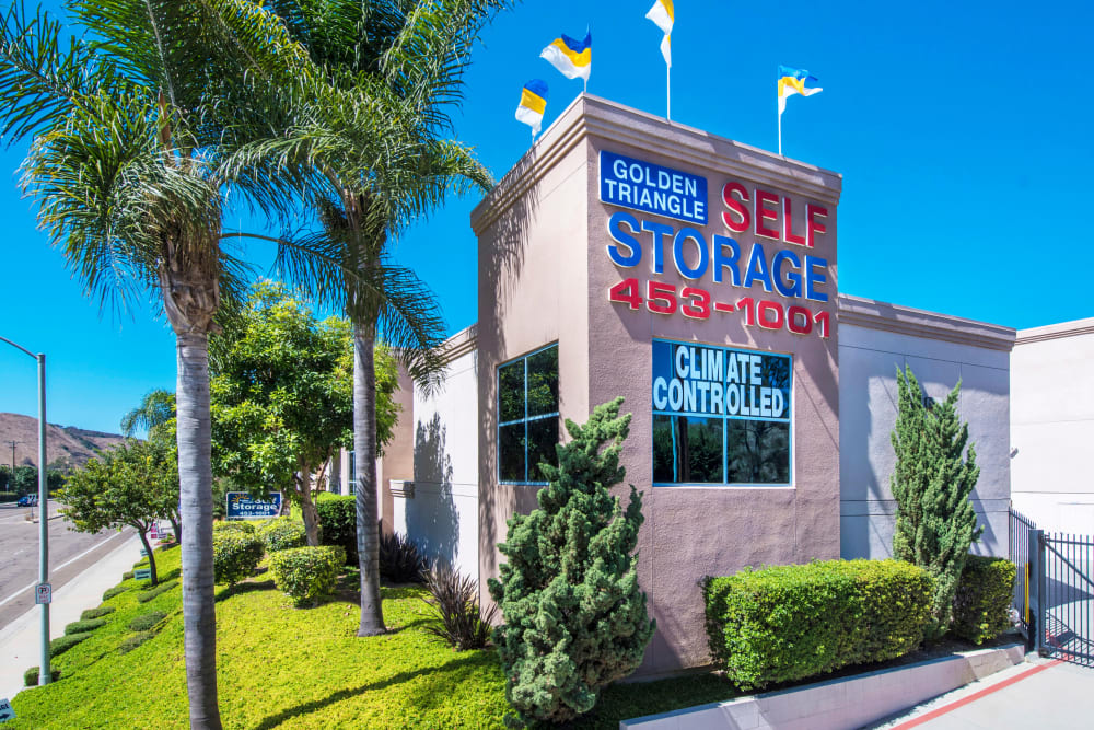 Front entrance at Golden Triangle Self Storage in San Diego, CA