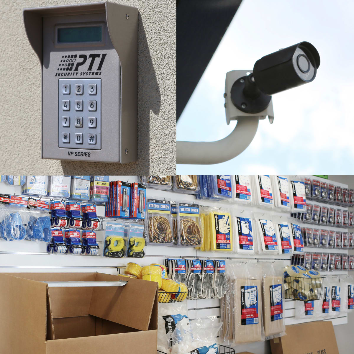 We provide 24 hour security monitoring and sell various moving and packing supplies at StoreSmart Self Storage in Roswell, Georgia