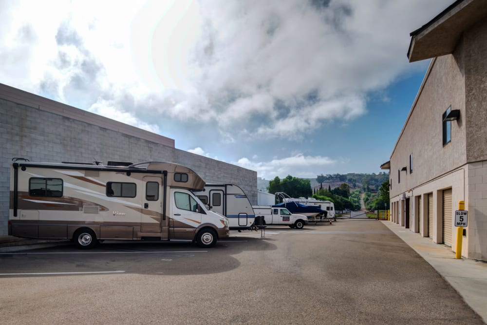 Outdoor parking is available at Poway Road Mini Storage