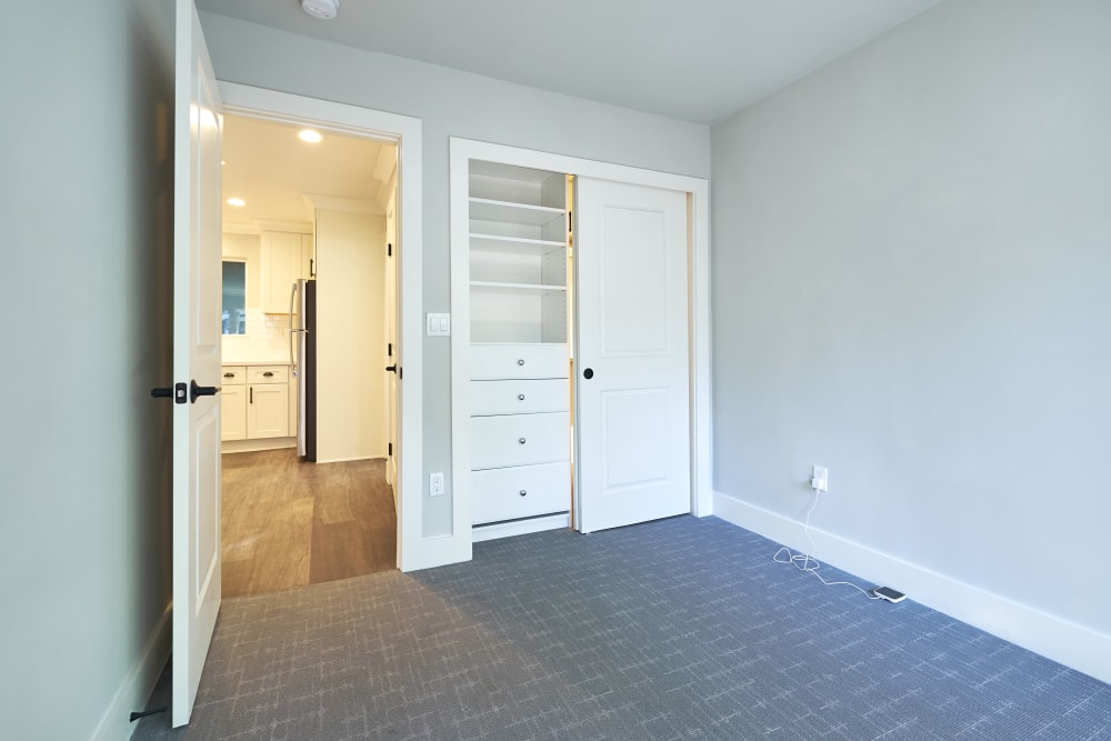 Spacious bedroom with a walk-in closet at Allure in Alamo, California