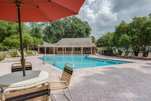 luxury outdoor pool at Cypress Cove