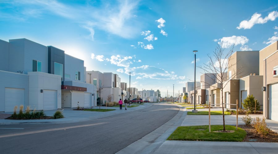 View of our beautifully maintained neighborhood at Village at Belmar