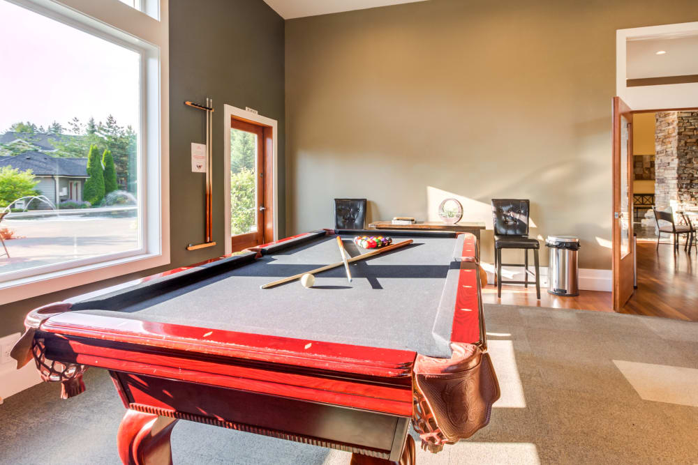 Enjoy Apartments with a Clubhouse with a Pool Table at Sierra Sun